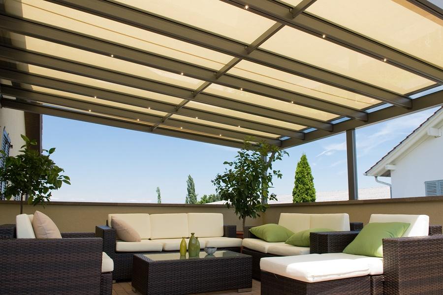 Buitenzonwering, serre zonwering, voor serre daken, buitenzonwering