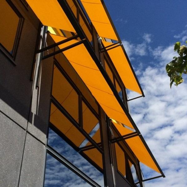 Uitval zonnescherm, windvaste uitvoering