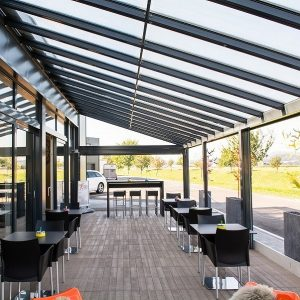 Stobag Zon-Comfort, hoogwaardige terrasoverkapping met glasdak, den Haag